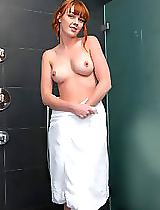 There's nothing quite like watching a cute, sexy girl in the shower. And when that girl is Maria... well, it's just that much better! : ) After washing most of her body, she decides to focus on her sweet, cleanly shaven pussy... and focus she does. A litt