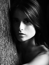 Graceful and erotic black & white nudes featuring one of the hottest models from Europe...