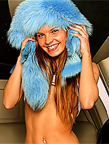 Classy teenager naked in the limo
